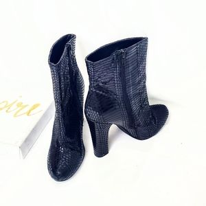 Very Volatile Stockholm Reptile Print Ankle Boots